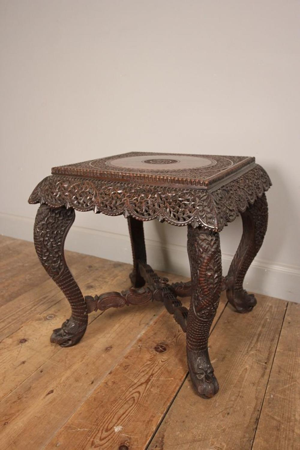 Quirky and Practical Burmese Side/ Lamp Table