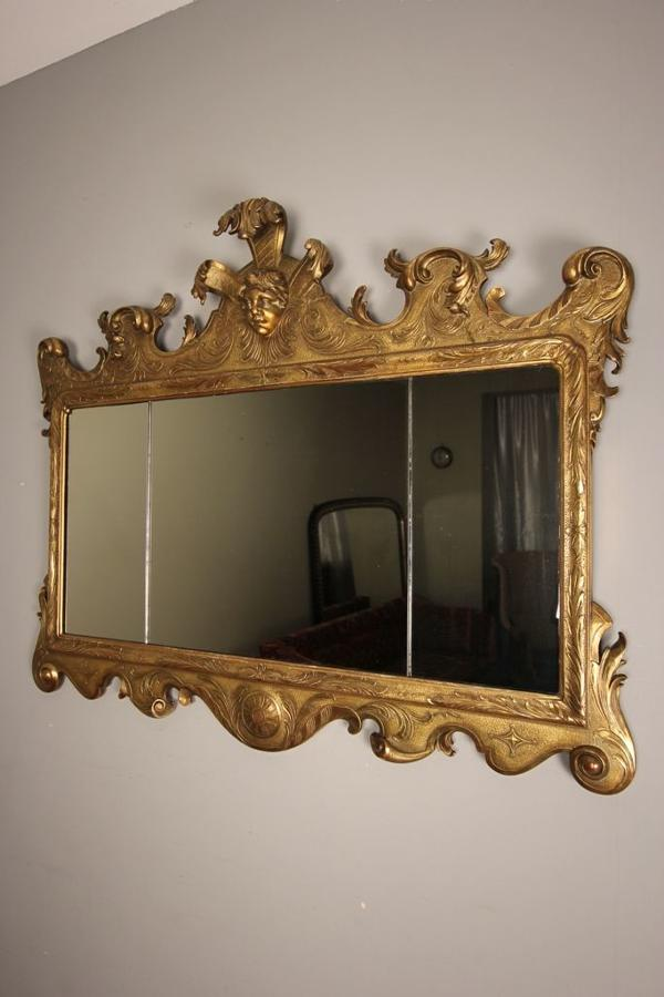 Beautiful George II Style Giltwood Mirror