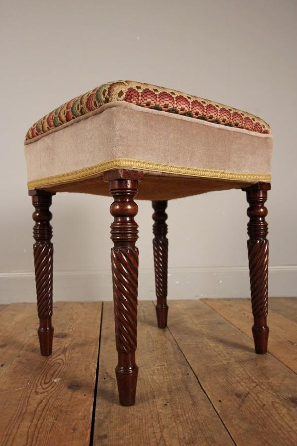 Scottish Mahogany Dressing Table Stool
