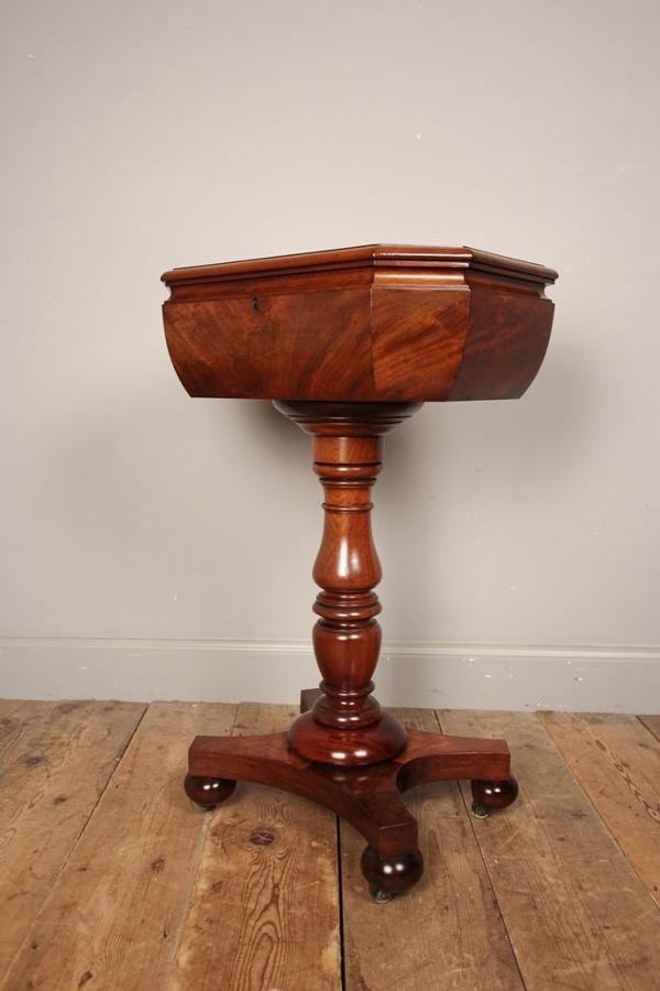 Gillows Mahogany Teapoy Side Table