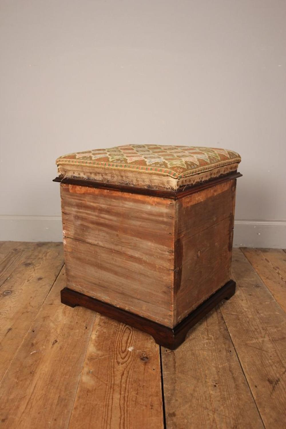 Beautiful 19th C Ottoman Box Stool