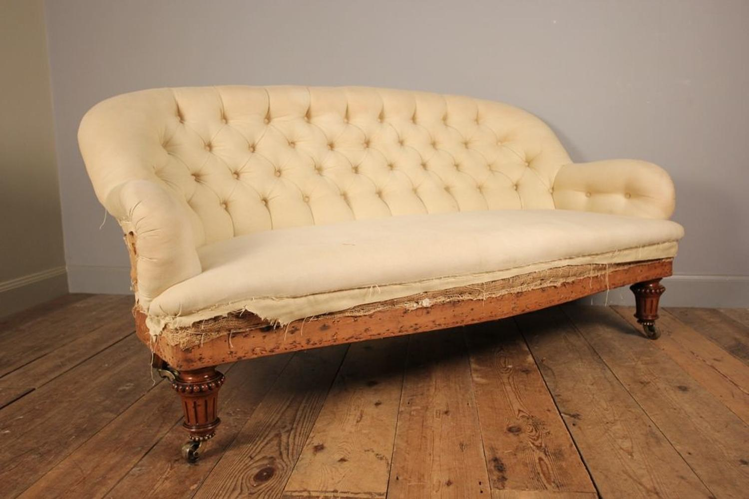 Gillows Small Walnut Sofa