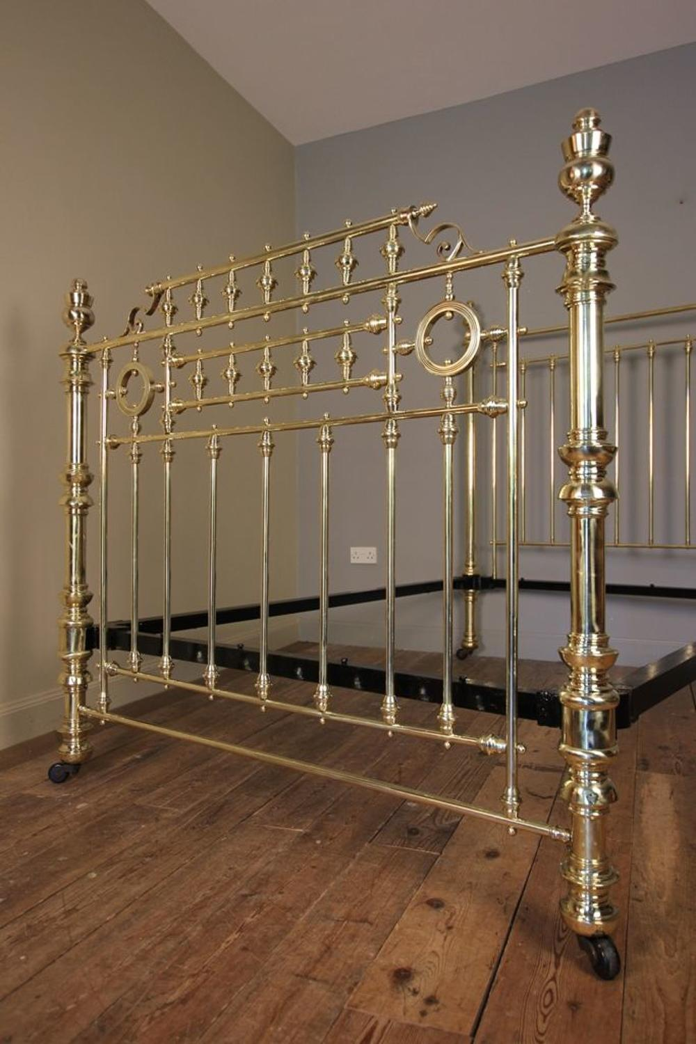 Super Quality 19th C Brass Double Bed (4 ft 6