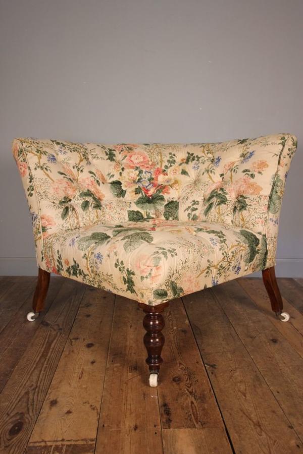 Beautiful Large 19th C Corner Chair