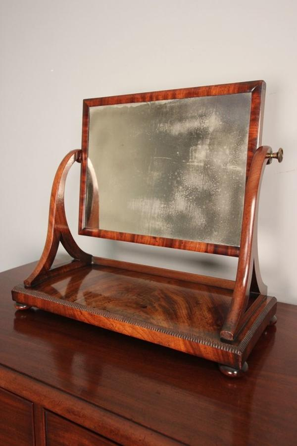 Superb Small Regency Table Top Mirror