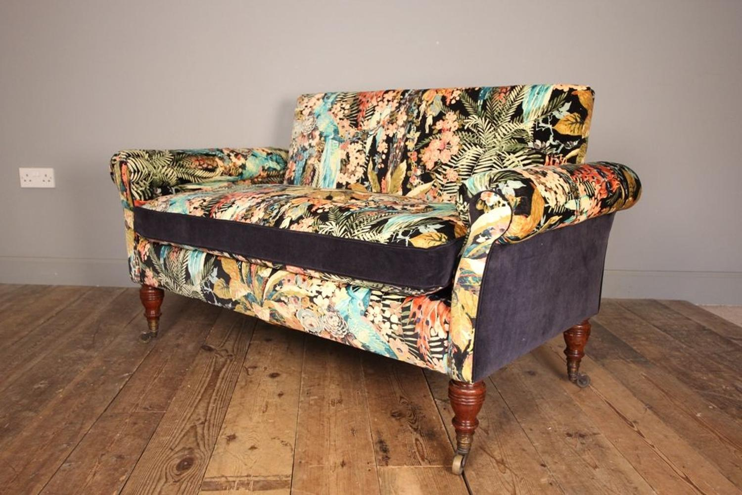 19th C. Small Howard & Sons Sofa