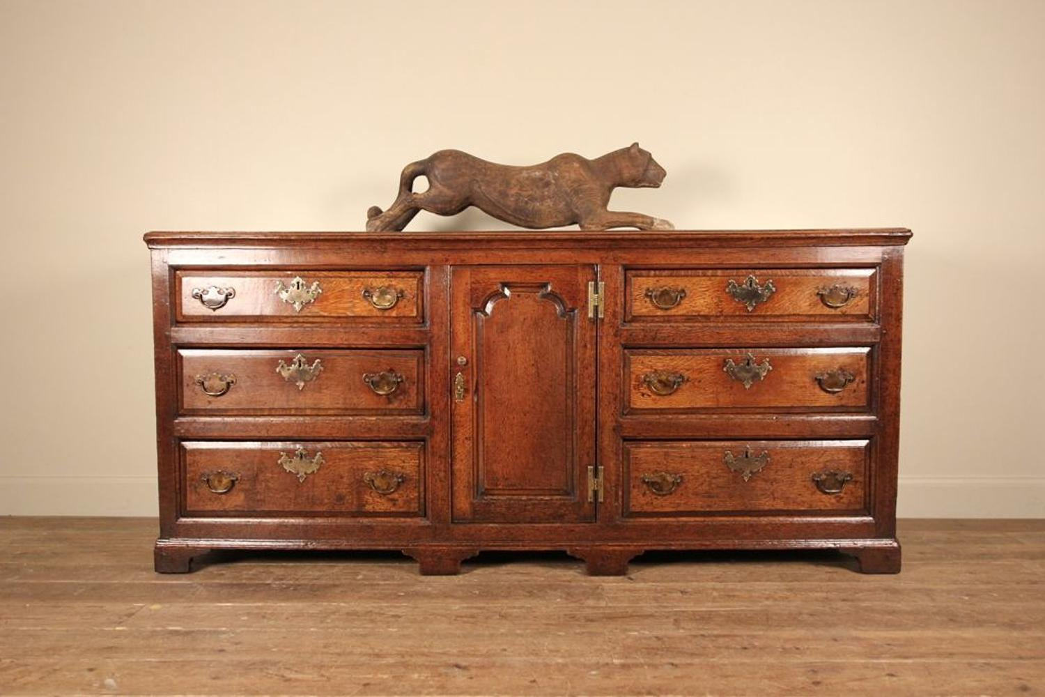 18th C Lancashire Oak Dresser Base