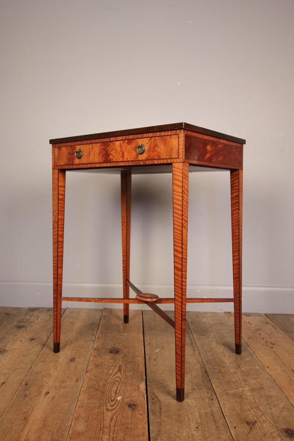 Fine 19th C. Satinwood Side Table