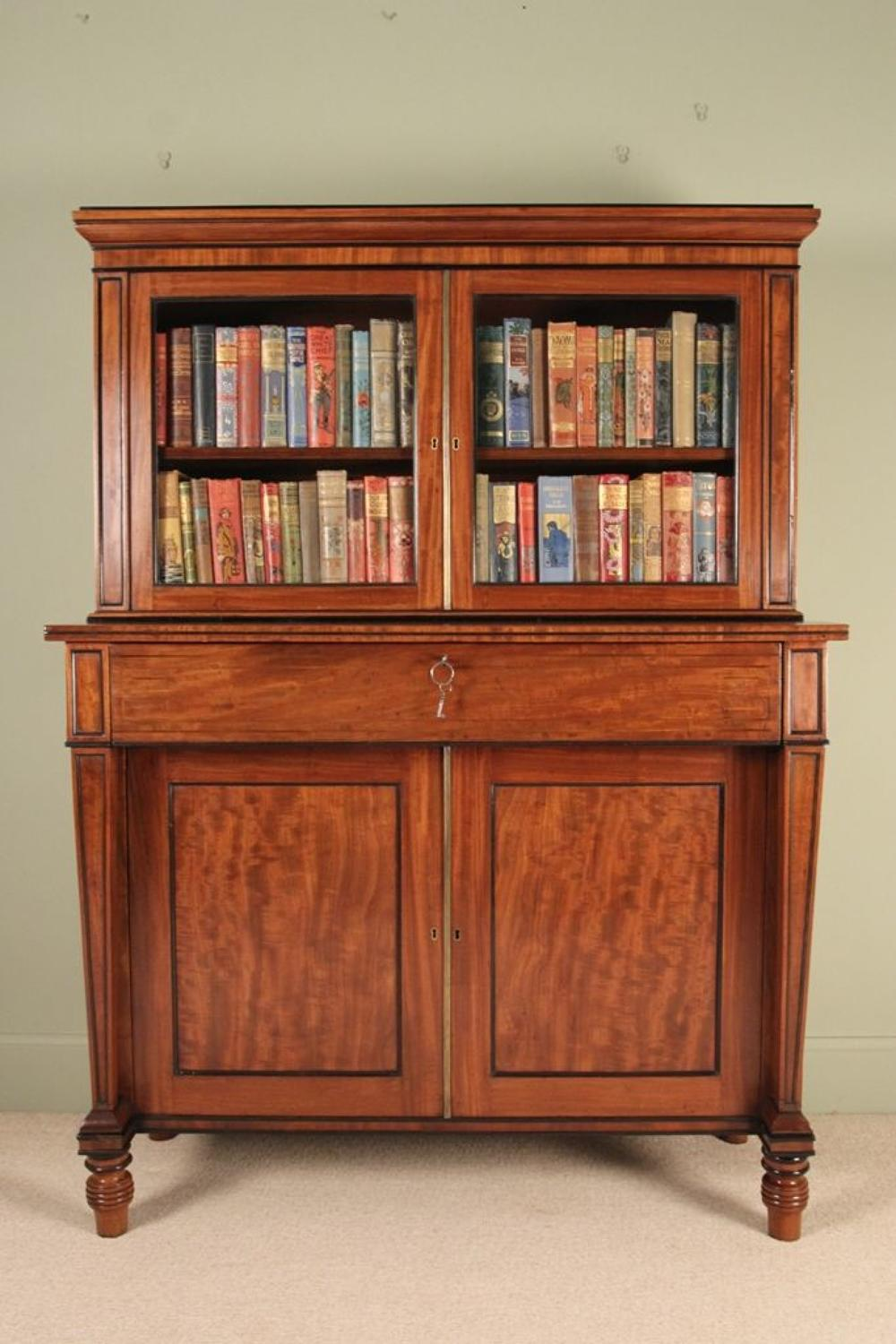 A Regency Mahogany Side Cabinet/Bookcase