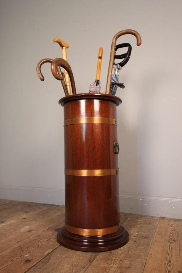 19th C Country House Mahogany Umbrella / Stick Stand