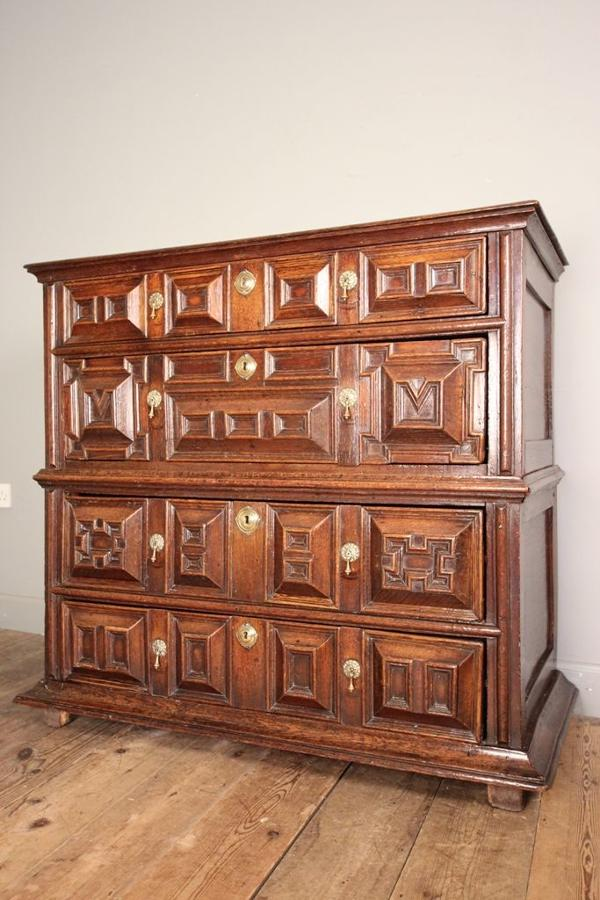 Charles II Oak Chest of Drawers