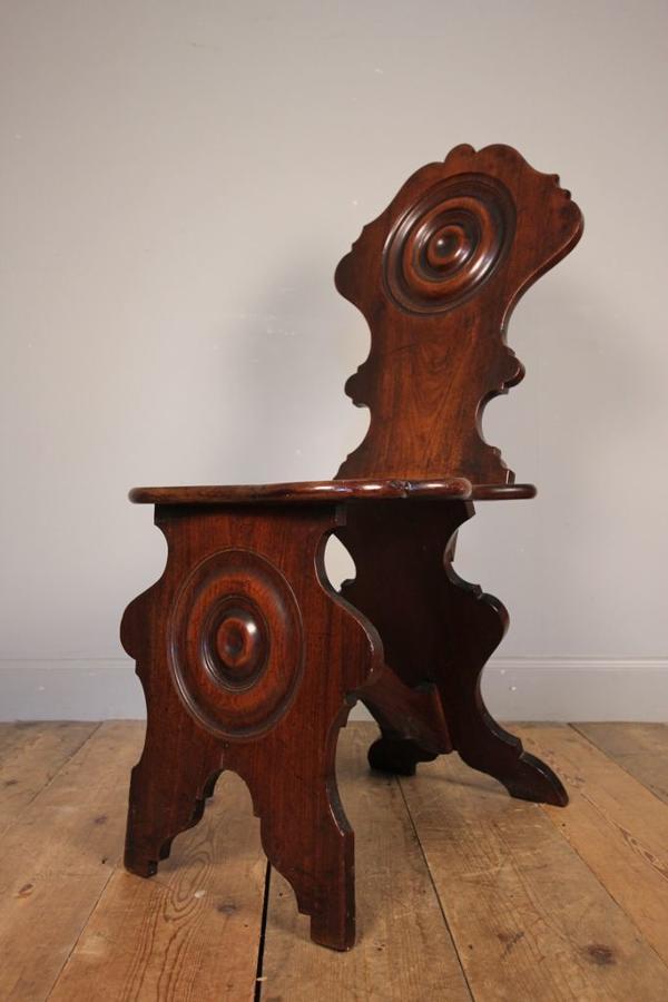 Stunning 18th C Padauk Scabello Chair