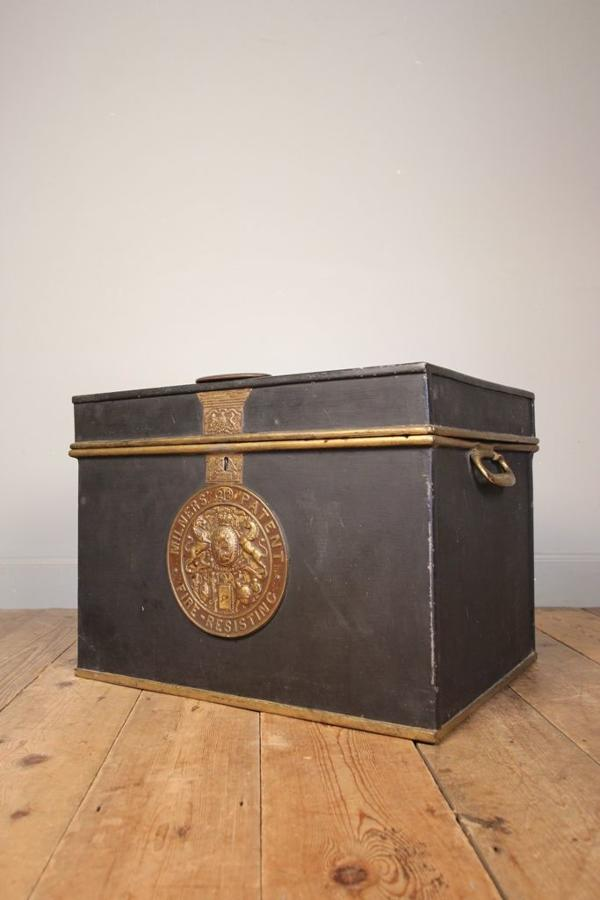 19th Century Milners Cast Iron Box Safe
