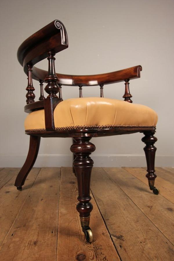 19th C Large Scale Office Library Chair