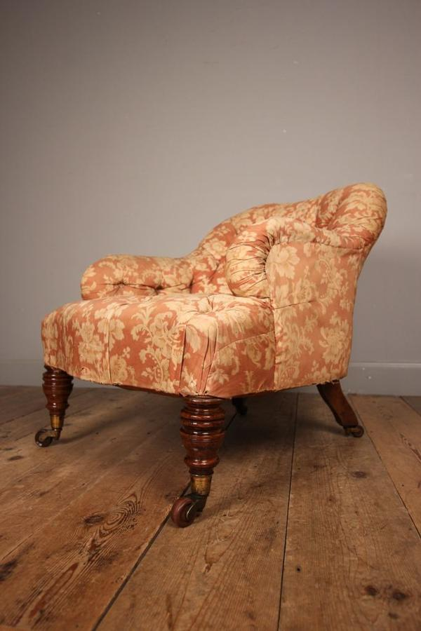 Lovely Quality Small Bedroom Chair in Howard & Sons Style