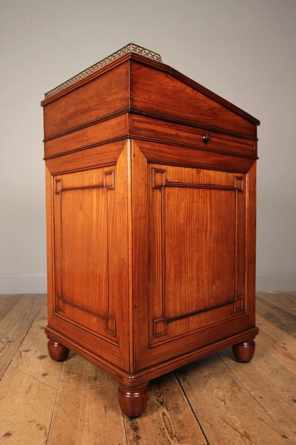 Rare Chinese Export Regency Pearwood (Huanghuali) Davenport