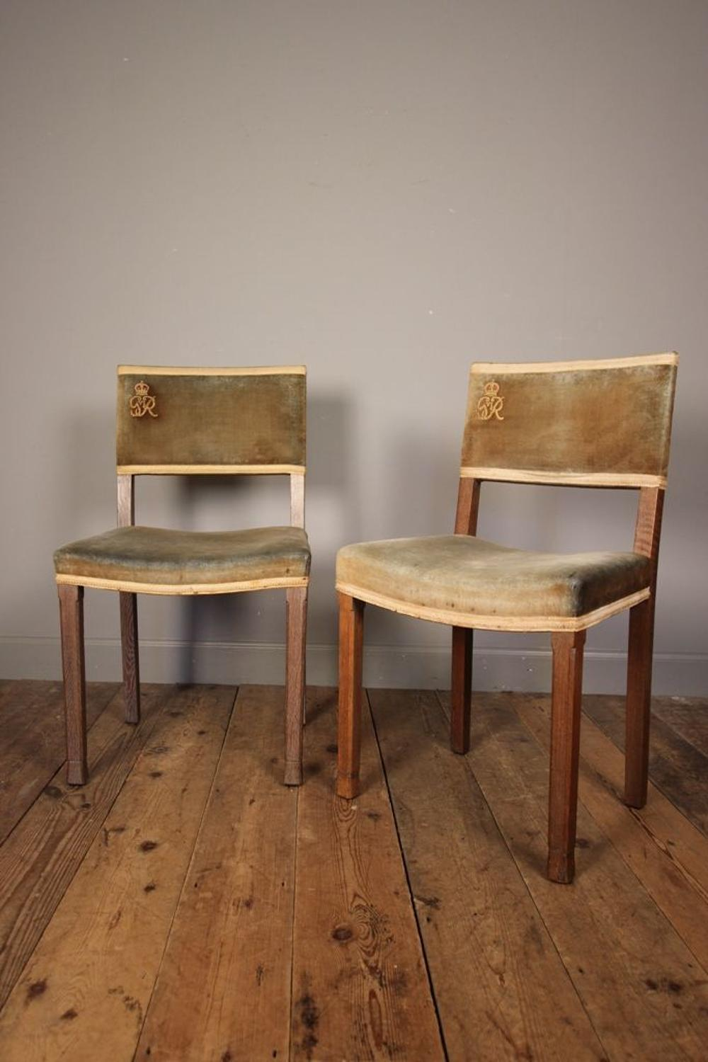 A Fabulous Pair of George VI Coronation Chairs