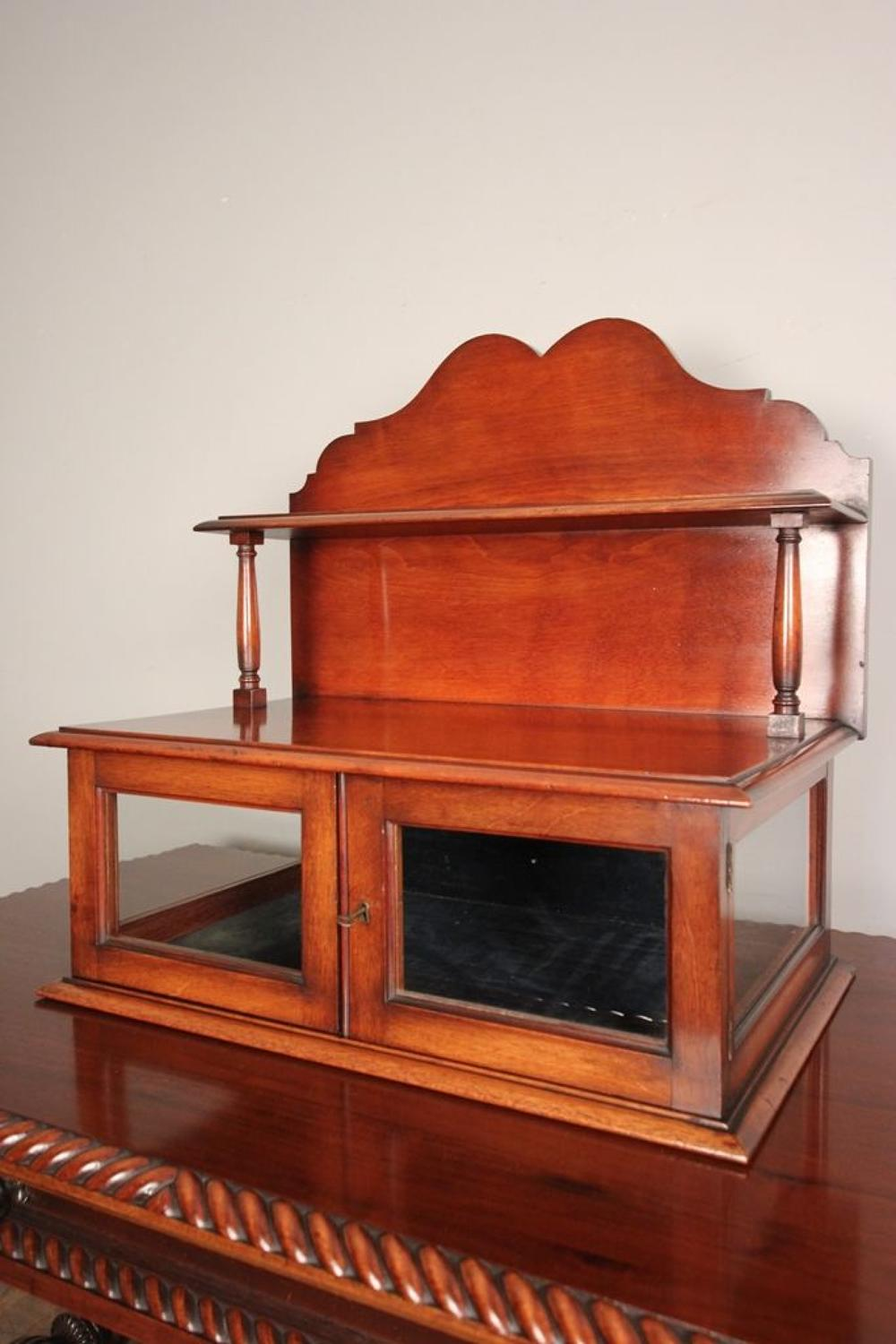 19th C Mahogany Table Top Display Cabinet
