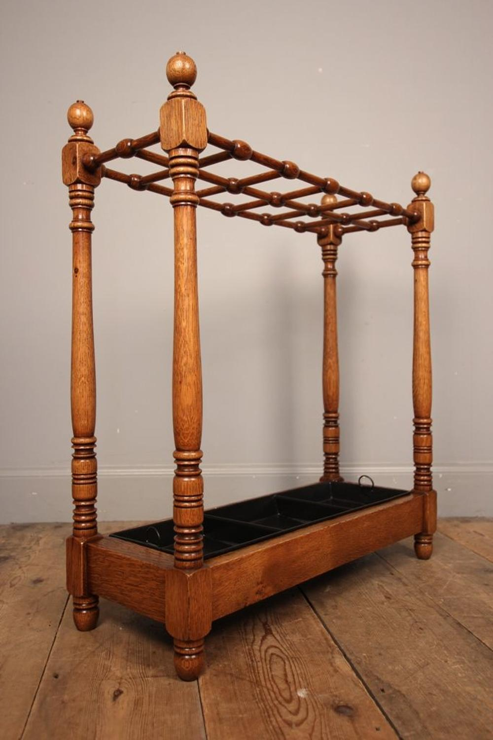 Heals Oak Umbrella / Stick Stand