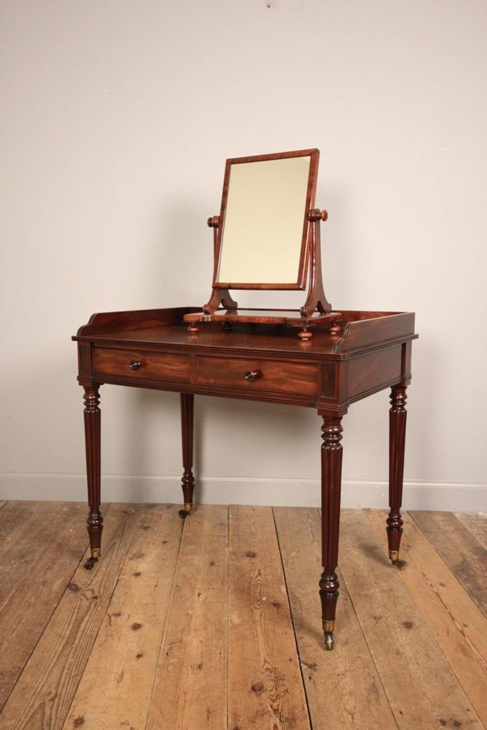 Gillows George IV Dressing Table & Mirror