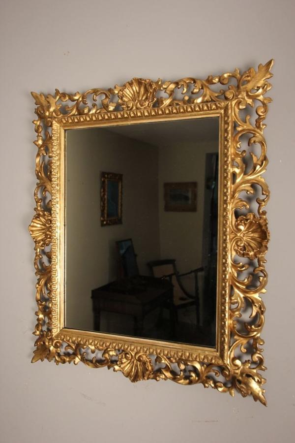 19th C Giltwood Florentine Mirror