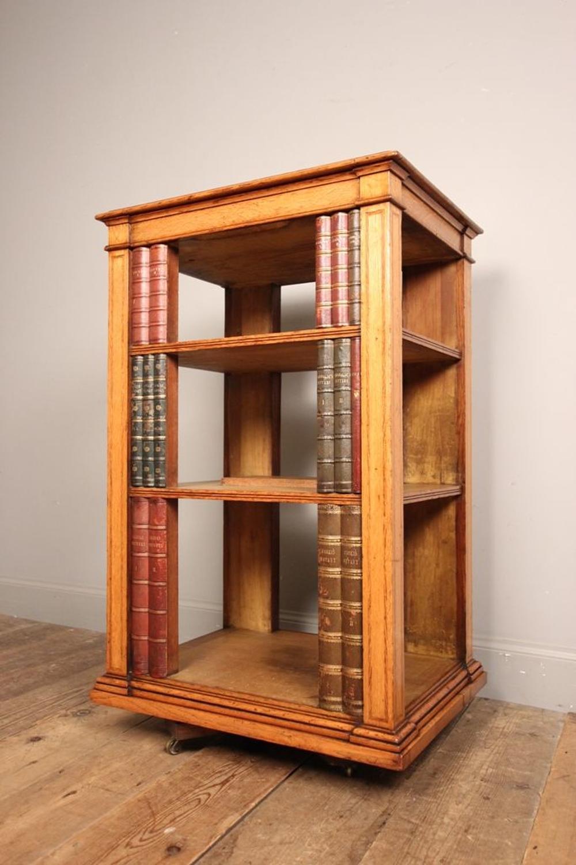 Super Oak Pedestal Open Bookcase atb. Gillows