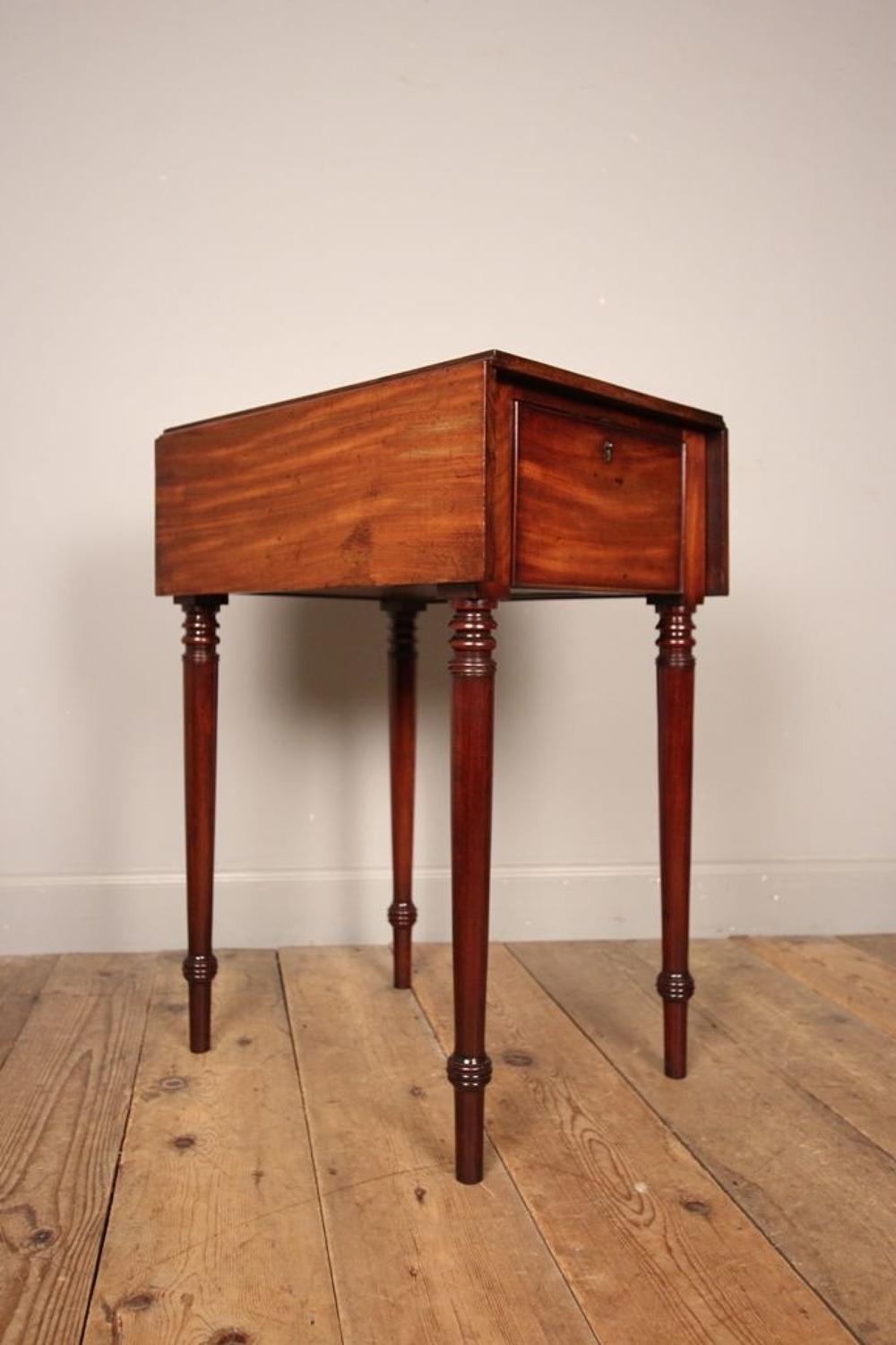 Georgian Mahogany Small Pembroke Side Table