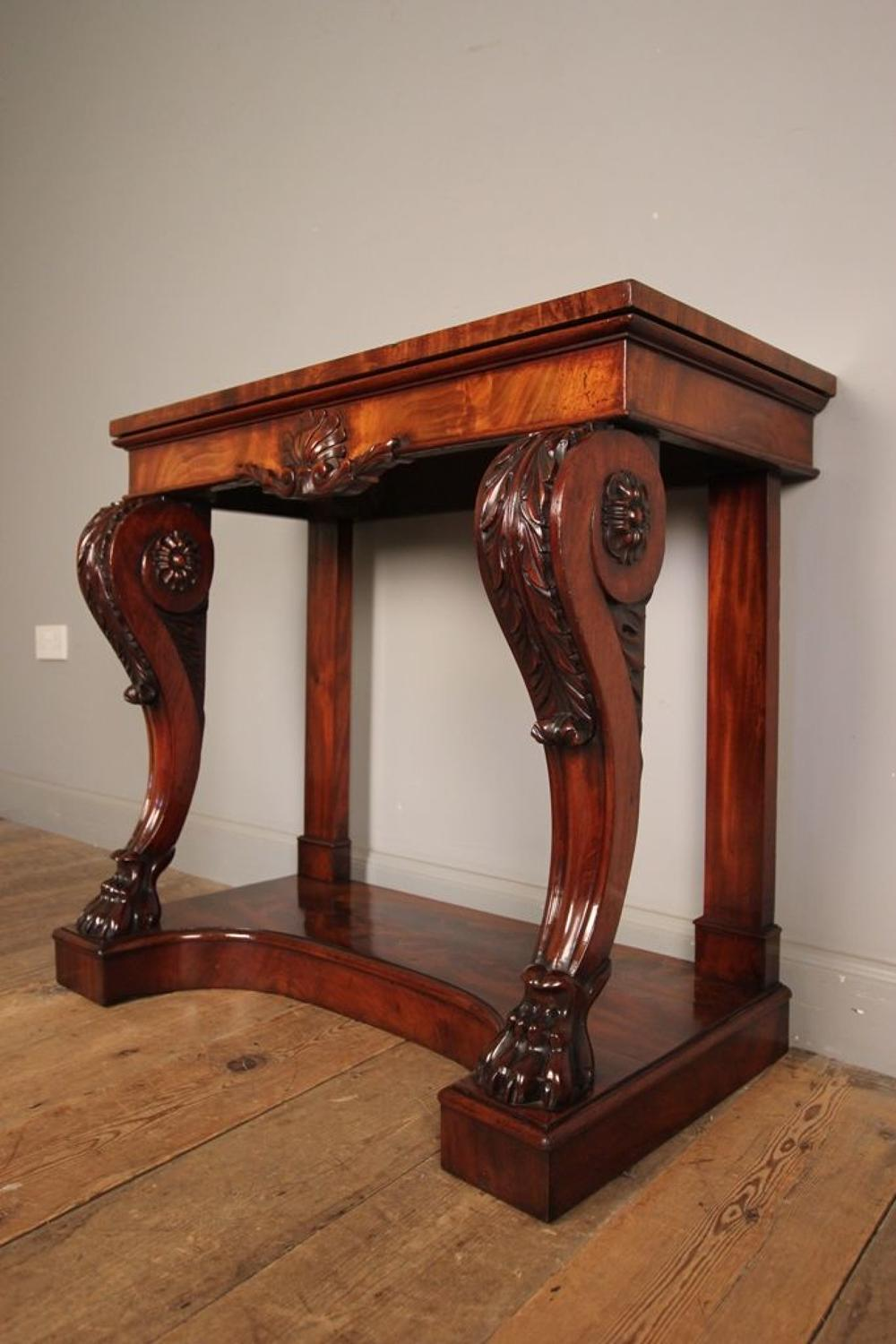 Superb Regency Small Console Table