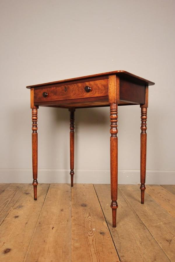 19th C Mahogany Single Drawer Side Table