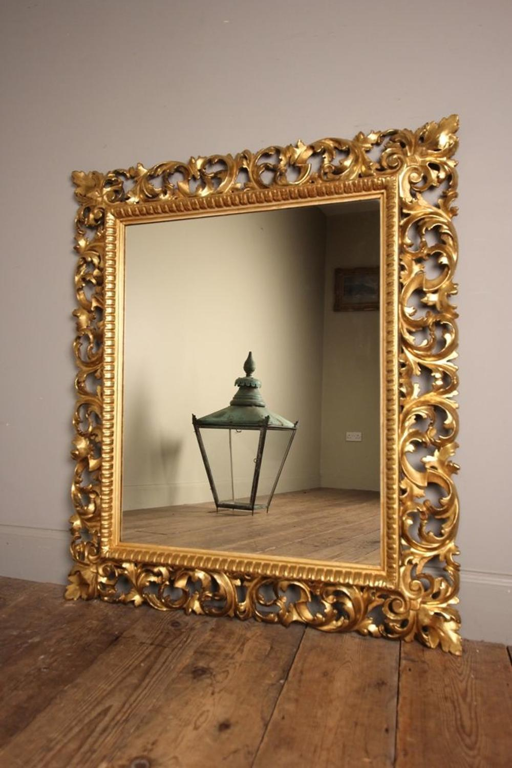 Large 19th C Giltwood Florentine Mirror