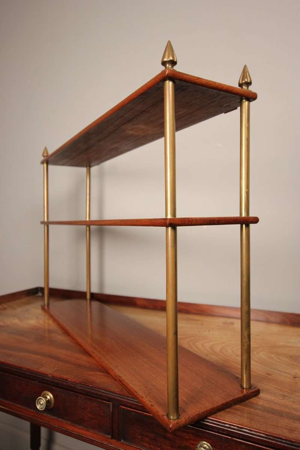 A set of Campaign Military Teak Shelves