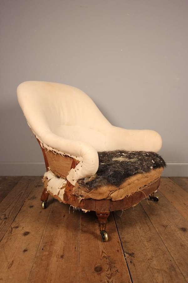 Early Howard & Sons Upholstered Occasional Chair