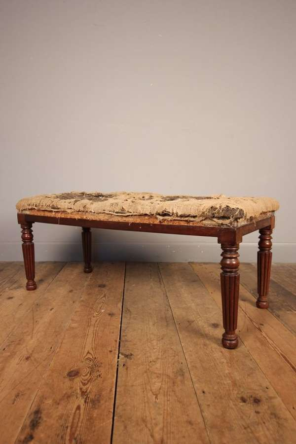 George IV Mahogany Long Stool in the Gillows Manner