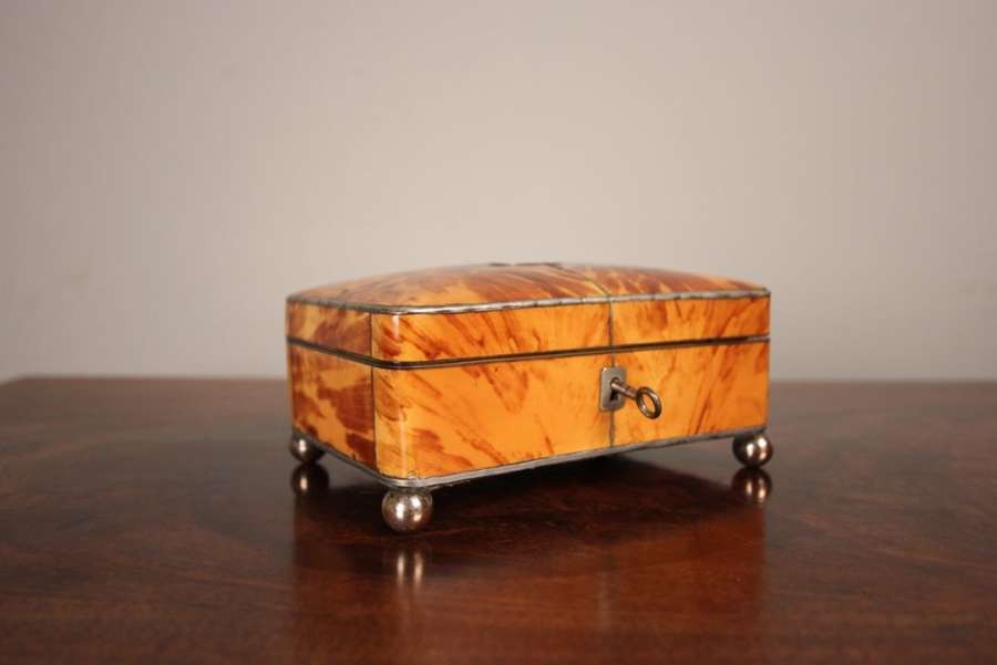 19th C Tortoiseshell Jewellery Box