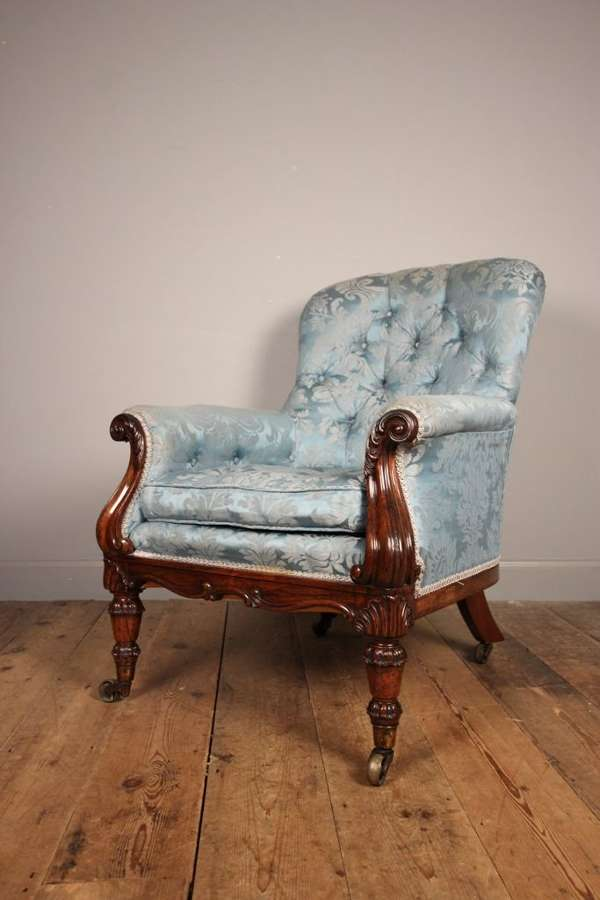 Stunning Gillows Rosewood Bergere Chair