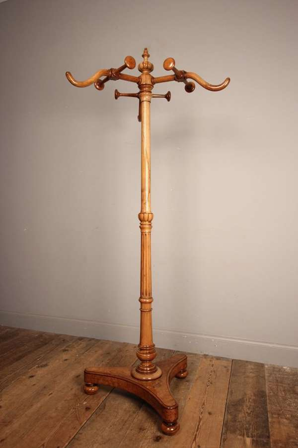 Superb Burr Walnut Hat & Coat Stand