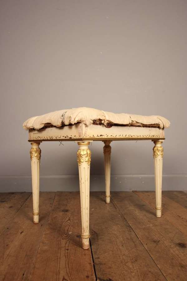 Edwardian Gilt and Gesso Stool