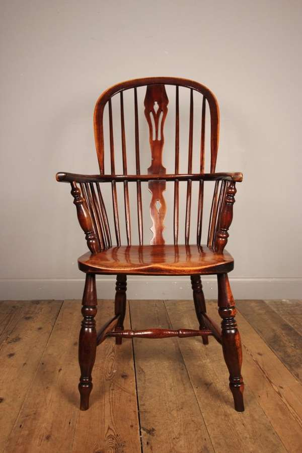 Lancashire High Back Elm Windsor Chair