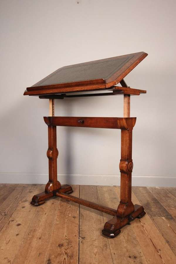 19th C Architects Table by Bulstrode of Cambridge