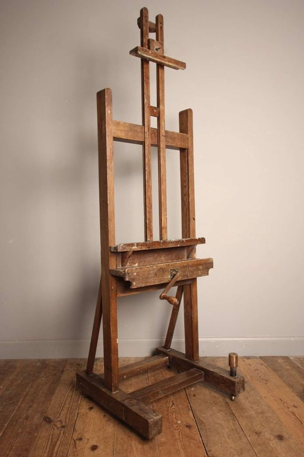 19th C English Oak Artists Easel