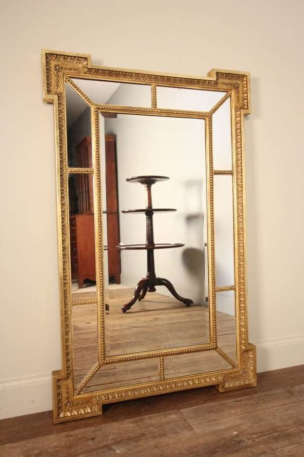 19th C. Giltwood Margin Mirror