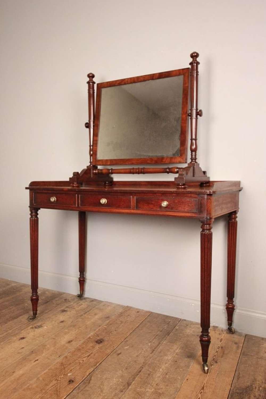 George III Mahogany Dressing Table Mirror