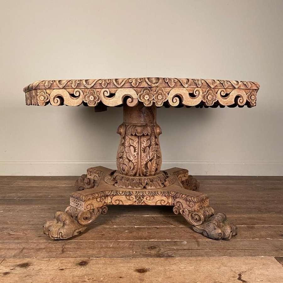 19th Century English Oak Centre Table