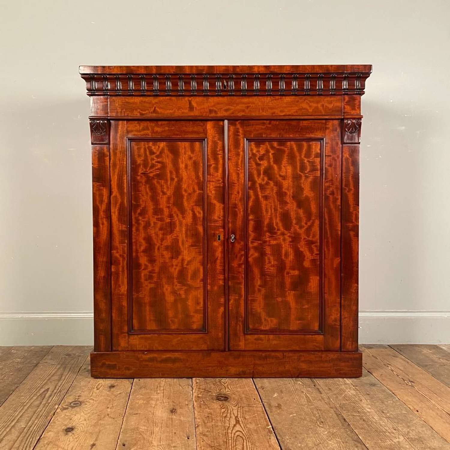 Wonderful Small George IV Mahogany Dwarf Cabinet