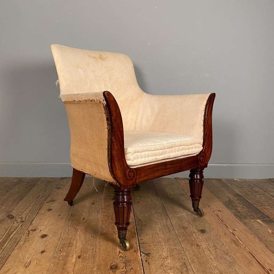 Regency Bergere Library Chair