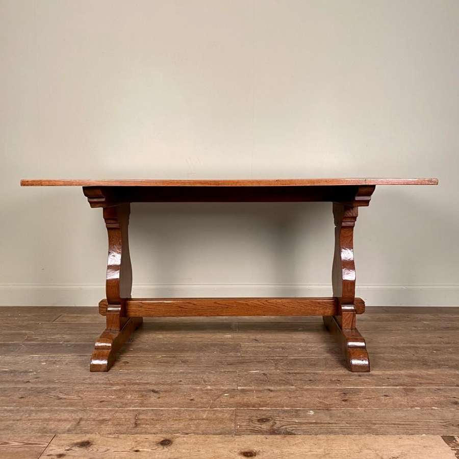 Edwardian Solid Oak Farmhouse Table
