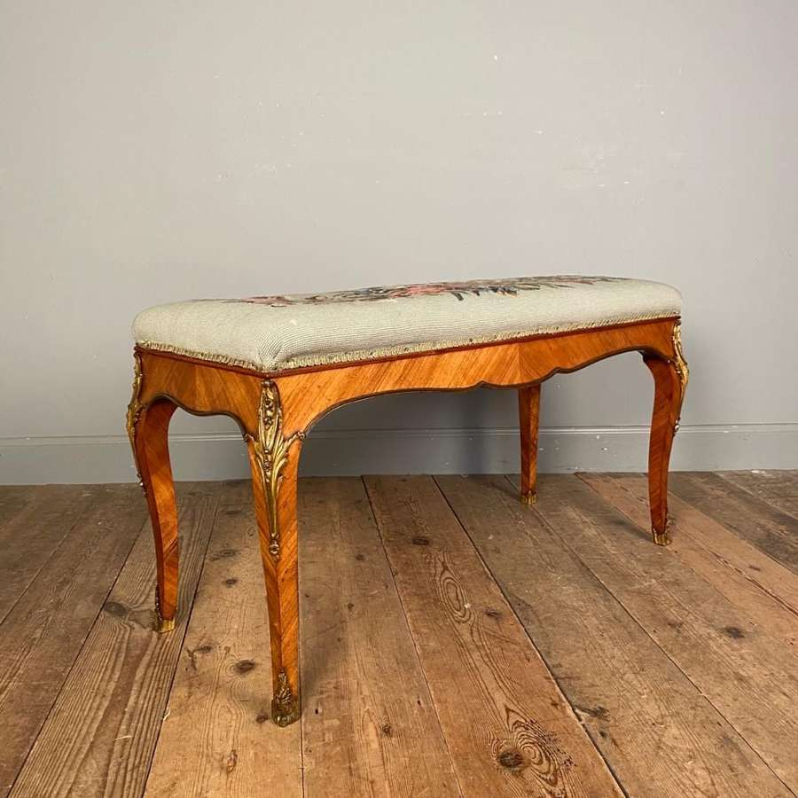 Fine 19th C Kingwood & Ormolu Stool