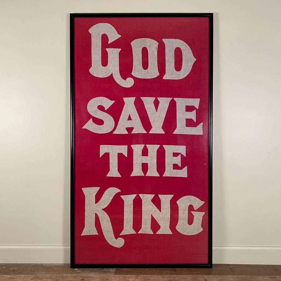 Genuine God Save The King framed flag- 1937
