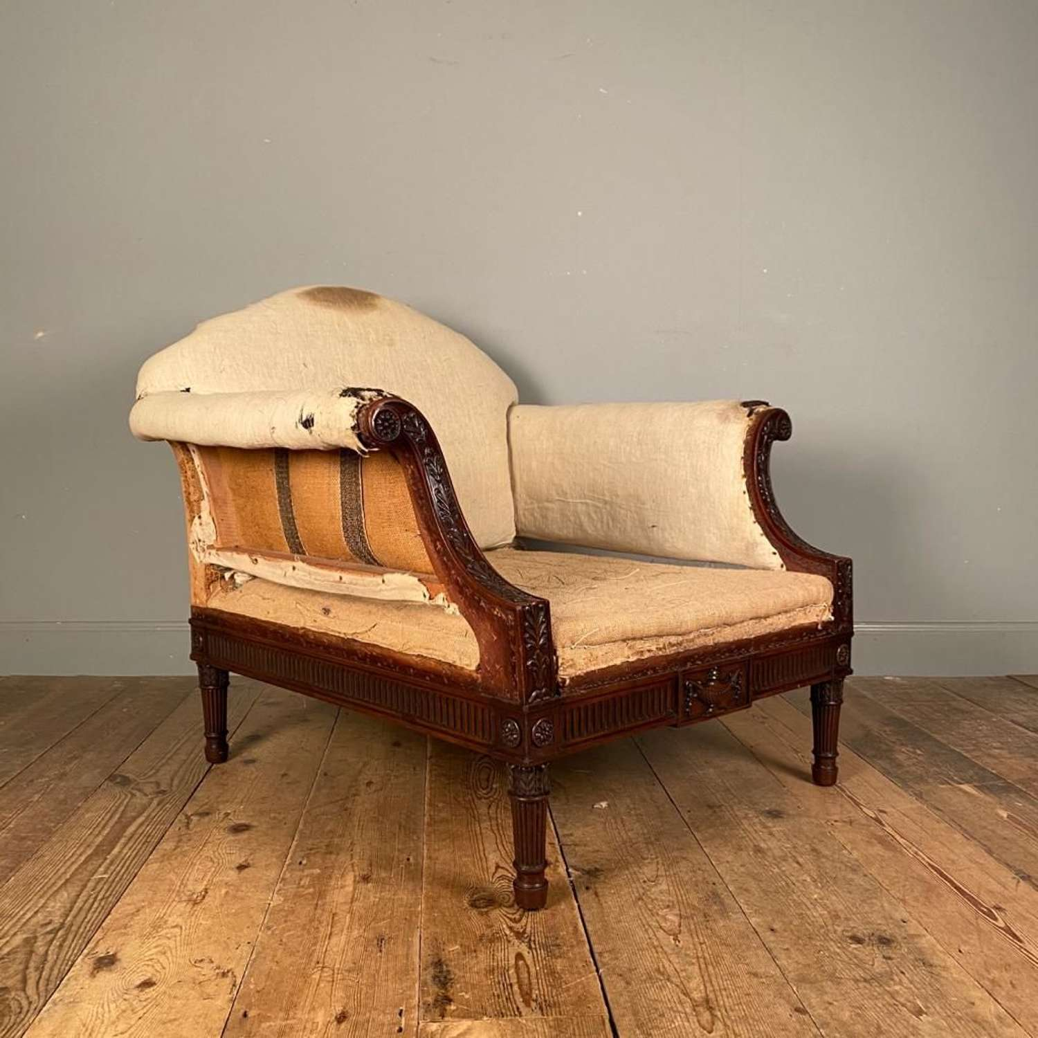 Large 19th C Mahogany Armchair
