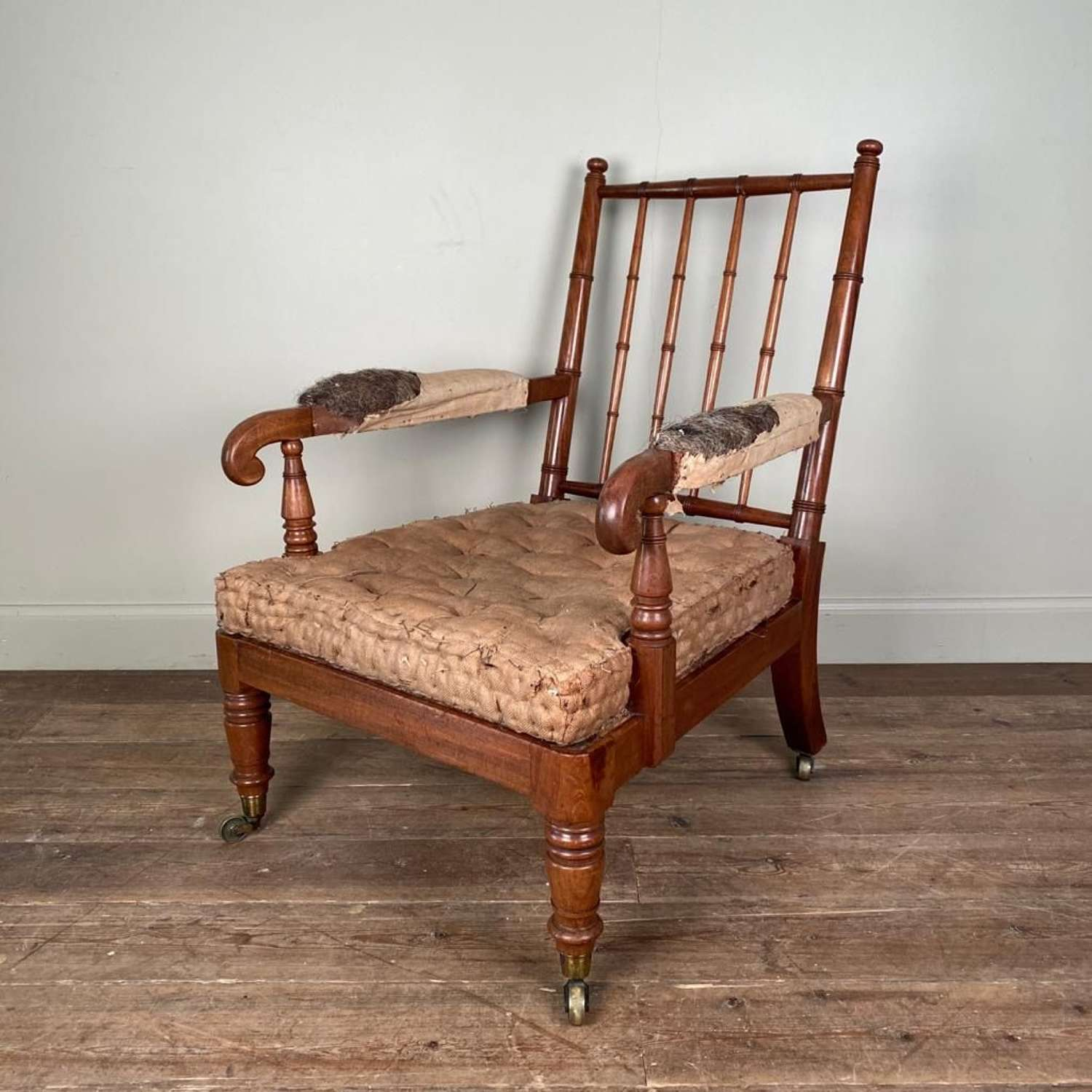 Gillows Mahogany Open Armchair